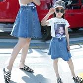 女童短裙 女童牛仔短裙2020新款春夏裝兒童韓版洋氣半身裙荷葉邊中大童裙子 源治良品