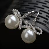 耳環 925純銀鑲鑽-典雅流行生日情人節禮物女耳針73gt216【時尚巴黎】
