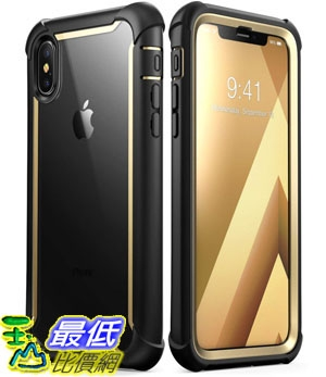 手機保護殼 iPhone Xs Case, iPhone X Case, i-Blason [Ares] Full-Body Rugged Clear Bumper B07HHYKFMB
