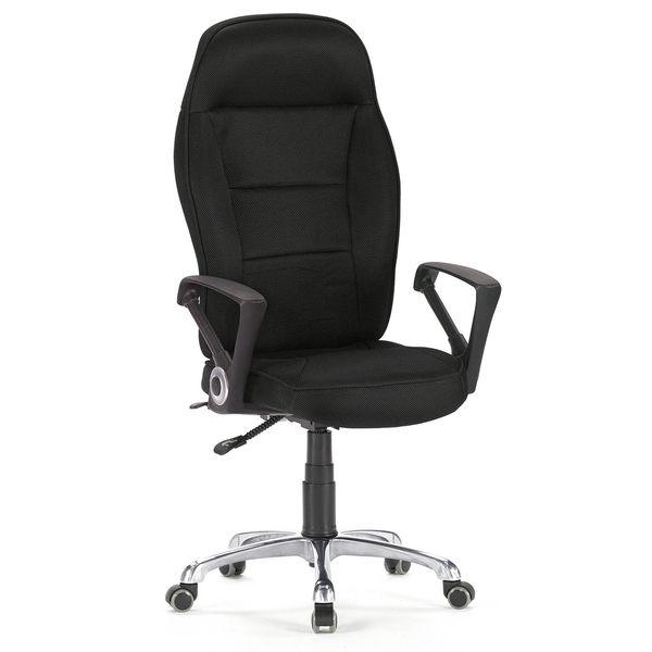 【森可家居】賽車型黑網主管辦公電腦椅 7SB281-1 OA