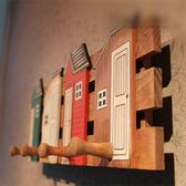 實木簡約鉤子房屋掛鉤家居木質裝飾掛鉤衣帽鉤創意掛衣架壁掛牆壁 igo  露露日記