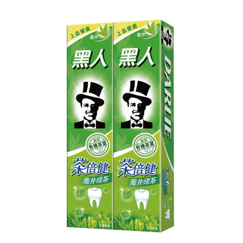 黑人牙膏-茶倍健160g*2入【愛買】