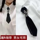 領帶領結 原創女領花領結韓版學院風工作銀行職業裝制服雙層領結小領帶女士 韓菲兒