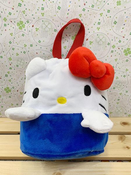【震撼精品百貨】Hello Kitty 凱蒂貓~KITTY手提包/縮口袋-紅藍#10447