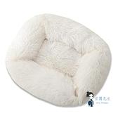 寵物窩 深度睡眠長毛絨方形寵物窩大中小型犬秋冬睡眠窩狗窩貓窩寵物用品