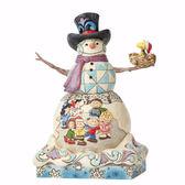 《Enesco精品雕塑》雪人與歡樂SNOOPY好朋友場景塑像-Snow Day(Peanuts by Jim Shore)_EN91755