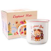 (滿3件$399)英國貝爾熊復古杯(紅)~指定商品需滿3件以上才可出貨