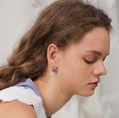 星球宇航員耳釘無耳洞耳夾女小眾網紅耳環銀針耳飾YJ1969【雅居屋】