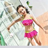兒童分體泳衣女童性感比基尼可愛公主女孩幼兒走秀表演泳裝 sxx2493 【大尺碼女王】