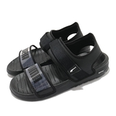 Puma 涼鞋 Softride Sandal Wns 黑 半透明 女鞋 涼拖鞋 魔鬼氈 【ACS】 38067801
