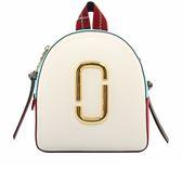 【MARC  JACOBS】防刮牛皮撞色Pack Shot Backpack後背包(白) M0013992 287