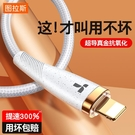 圖拉斯鍍金蘋果數據線快充充電線器X手機iPhone11閃充2米加長iPad7P專用 創意新品