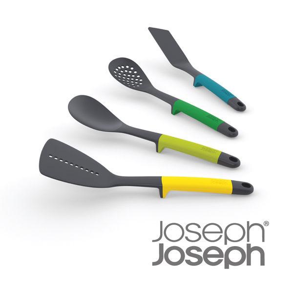 (福利品) Joseph Joseph 不沾桌鏟杓料理4件禮盒組(繽紛綠)