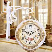 限定款挂钟邁爾雙面掛鐘客廳時鐘靜音歐式創意雙面鐘表兩面壁鐘石英鐘掛表