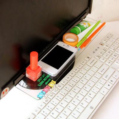透明壓克力便利貼留言板 電腦顯示器收納架 『上下收納架款』#STD05864-2#