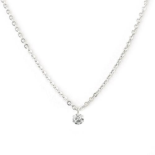One&Only Jewellery【日本代購】0.2ct Pt900 白金天然鑽石項鍊吊 鉑金1711301636-B