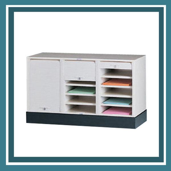 【必購網OA辦公傢俱】CP-6303+CP-03 三排一層+腳座 捲門式公文櫃 資料櫃 效率櫃