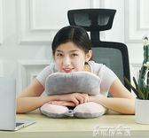 趴趴枕學生教室可插手午休小枕頭多功能抱枕辦公室睡覺神器午睡枕   麥琪精品屋
