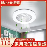 台灣現貨 家用隱形吸頂風扇燈 臥室書房廚房帶電扇燈 夏季優選