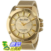 [104美國直購] Marc Ecko Men s E18597G1 The Flash Gold Mesh Gold Dial Watch