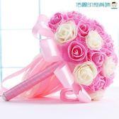尾牙年貨節新娘手捧花婚禮仿真玫瑰花球婚紗照洛麗的雜貨鋪