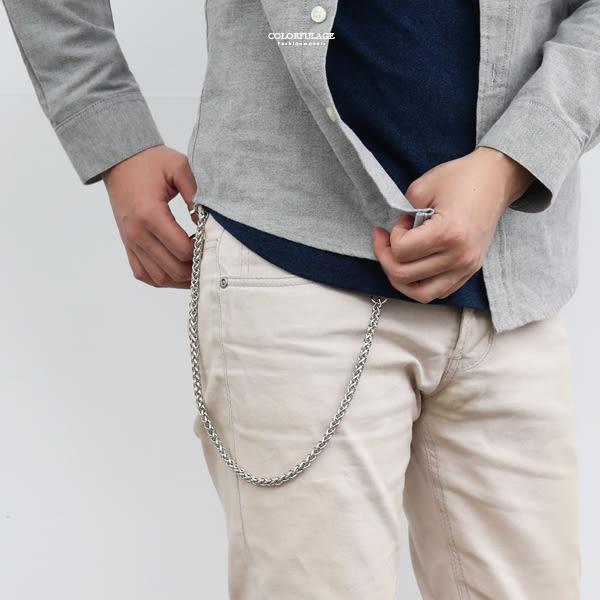 腰鍊 銀色鍊條可掛鑰匙NF101