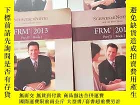二手書博民逛書店FRM罕見2013 Part II Book1-4 (4冊合售)