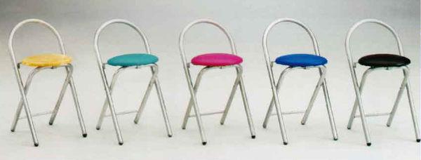 【南洋風休閒傢俱】低/高折合吧台椅 原木面折合椅 休閒椅 餐椅 造型椅 (583-1)