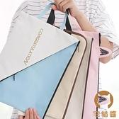 A4文件袋拉鏈式資料夾檔案袋帆布袋手提A5收納袋【宅貓醬】