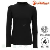 荒野WILDLAND 女款遠紅外線彈性保暖衣 W2651 黑色 衛生衣 內衣 發熱衣 內搭上衣 OUTDOOR NICE