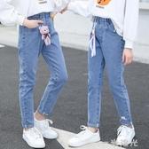 女童牛仔褲子2020新款春秋裝中大童韓版潮洋氣兒童修身時髦小腳褲 雙十一全館免運