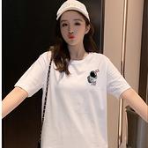 現貨速達 潮T 情侶裝 純棉短袖T恤 MIT台灣製 情侶【YC742-14】左胸 舉旗太空人 灰色星球
