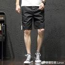 夏季男士短褲寬鬆韓版潮流休閒夏天純棉沙灘馬褲中褲5分五分外穿 檸檬衣舍