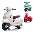 ◆偉士牌原廠授權,仿真電動玩具車 ◆仿真儀表板外觀、經典LOGO圖樣