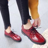 牛津鞋女2019新款小黑鞋女百搭英倫風女鞋韓版學生復古小皮鞋女 XN1851【Rose中大尺碼】