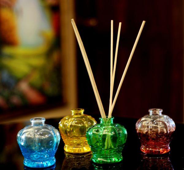karoli 日式風 香竹薰香玻璃瓶組 自然揮發擴香瓶 簡裝
