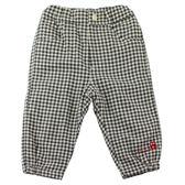 【愛的世界】鋪棉格紋縮口長褲/4~8歲-中國製- ★秋冬下著
