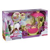 《 MATTEL 》芭比夢托邦甜甜村公主與四輪馬車╭★ JOYBUS玩具百貨