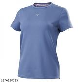 MIZUNO 女裝 短袖 T恤 慢跑 休閒 抗紫外線UPF30 彈性 薄暮藍【運動世界】32TA120215