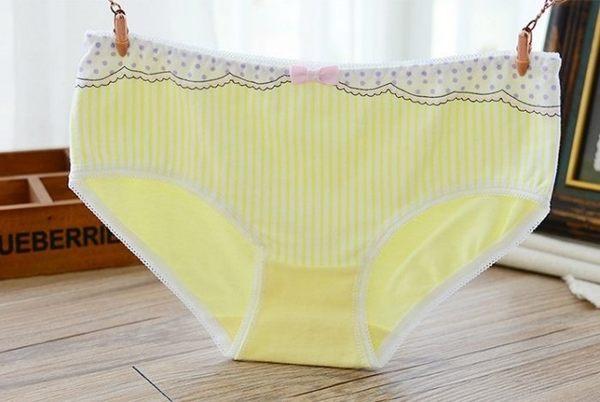 蕾絲 內褲 淺黃 1件