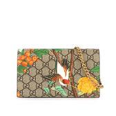 【GUCCI】TIAN花卉 蜂鳥鳥系列 WOC款鍊包 424891K0L2G8691