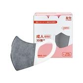 台灣康匠 友你 成人3D彈力活性碳醫用口罩50入(醫療用口罩)【小三美日】