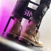 馬丁靴女2018夏季英倫風新款高幫平底復古短靴機車工裝沙漠女靴 伊蒂斯女裝