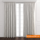 銀色大地雙層遮光窗簾 寬290x高210cm