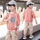 男童T恤男童T恤純棉帥氣男孩季9長袖兒童裝10歲韓版潮上衣8