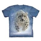 【摩達客】(預購)美國進口The Mountain 雪中豹 純棉環保短袖T恤(10416045030a)