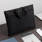 加厚文件袋布質帆布手提袋收納袋手拎袋公文袋文件 【快速出貨】