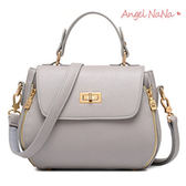 高品質手提包-韓鎖釦馬鞍包耐磨超纖皮女斜背包 (SBA0221) AngelNaNa