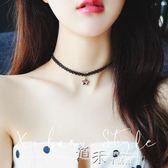 韓國黑色性感鎖骨鍊短款項圈脖子飾品勁頸鍊項鍊女頸帶 道禾生活館