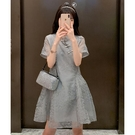 短袖洋裝 2021夏裝復古超仙輕熟風改良旗袍連身裙女小個子氣質顯瘦蕾絲裙潮